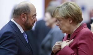 Μέρκελ και Σουλτς: Παραμένουν «μεγάλα εμπόδια» για την κυβέρνηση συνασπισμού