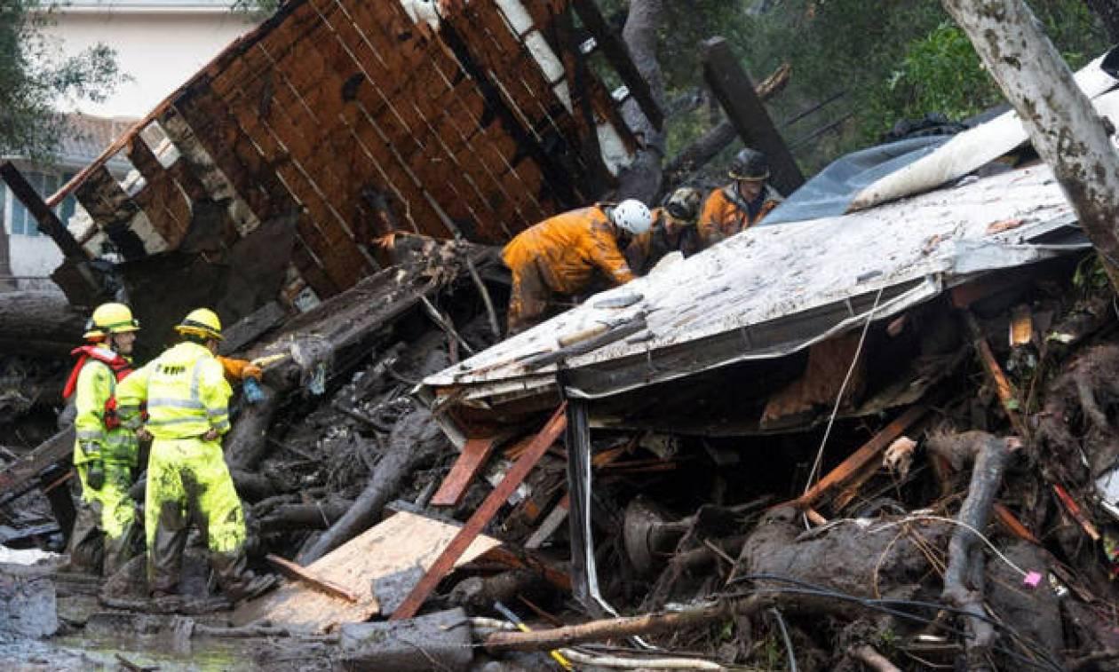 California mudslides death toll rises with 17 still missing