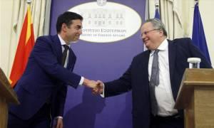 Στη Θεσσαλονίκη η συνάντηση Κοτζιά - Ντιμιτρόφ: Τι συζήτησαν για την ονομασία των Σκοπίων