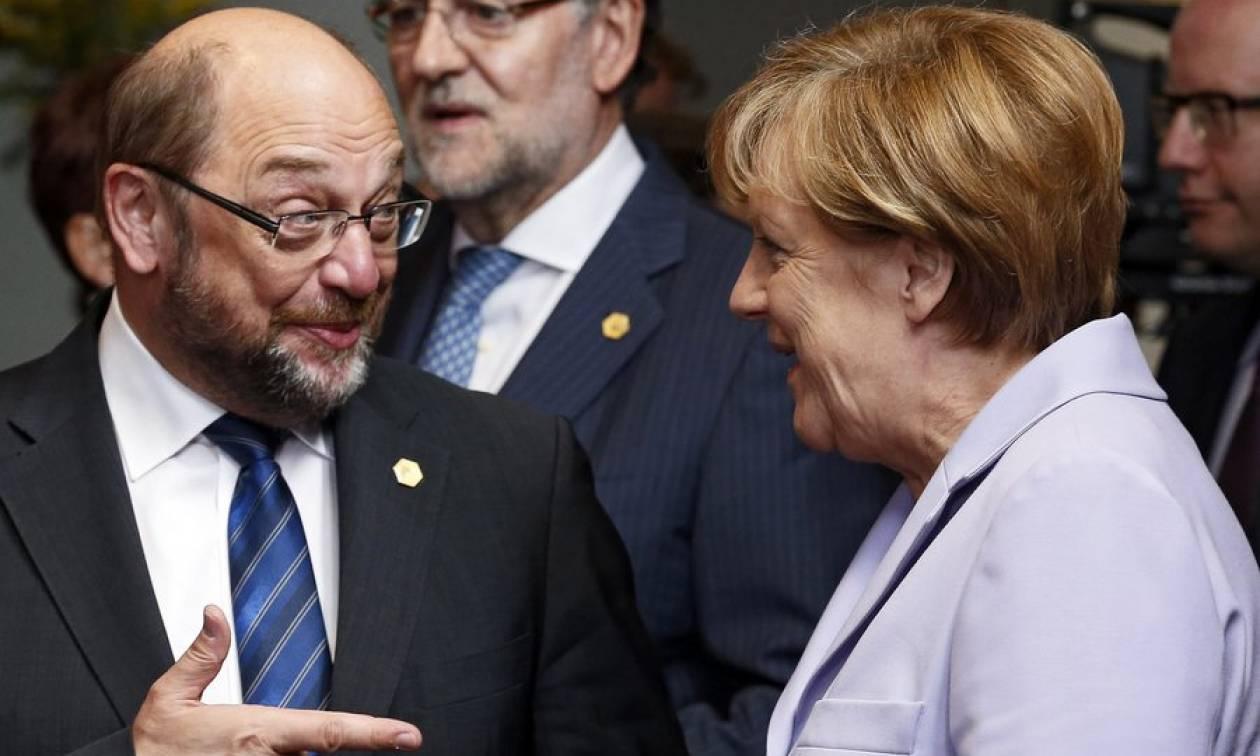 Γερμανία: Εντολή διαπραγμάτευσης για σχηματισμό κυβέρνησης έλαβαν Μέρκελ και Σουλτς