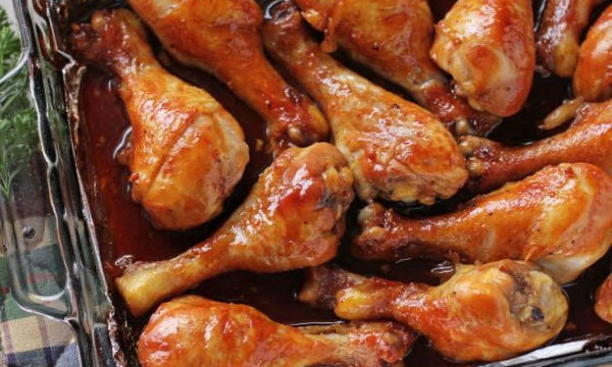 Νόστιμα καραμελωμένα μπουτάκια κοτόπουλου