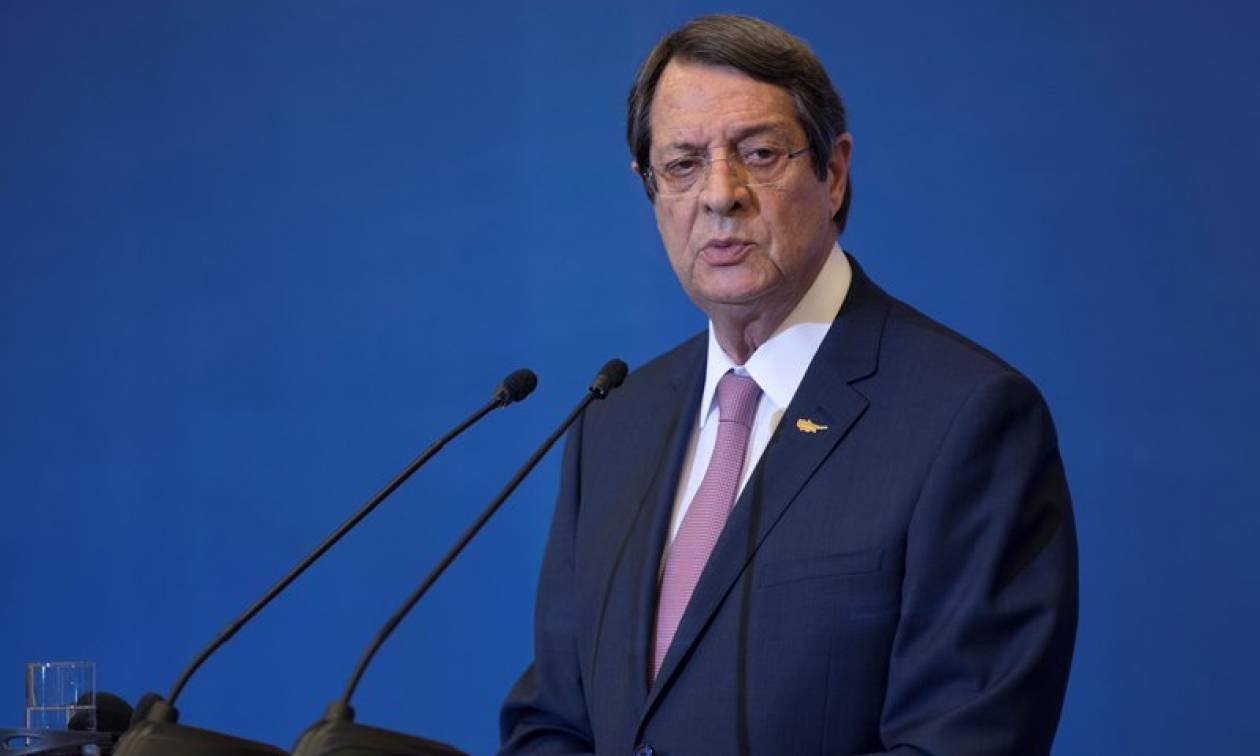 Αυστηρό μήνυμα Αναστασιάδη: Η Τουρκία να πάψει να θεωρεί την Κύπρο προτεκτοράτο της