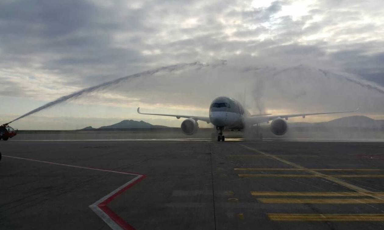 Πώς υποδέχθηκε η Πυροσβεστική ένα νέου τύπου αεροσκάφος (pics)