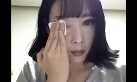 Δείτε τι μπορεί να κάνει ένα απλό μακιγιάζ - Είναι εντυπωσιακό (βίντεο)