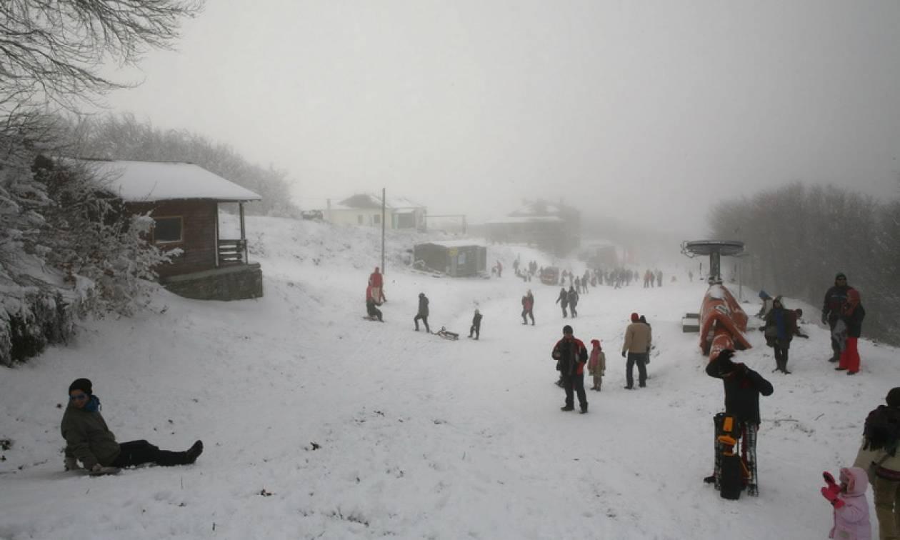 Σε πλήρη λειτουργία και με άφθονο χιόνι το χιονοδρομικό κέντρο στο Πήλιο