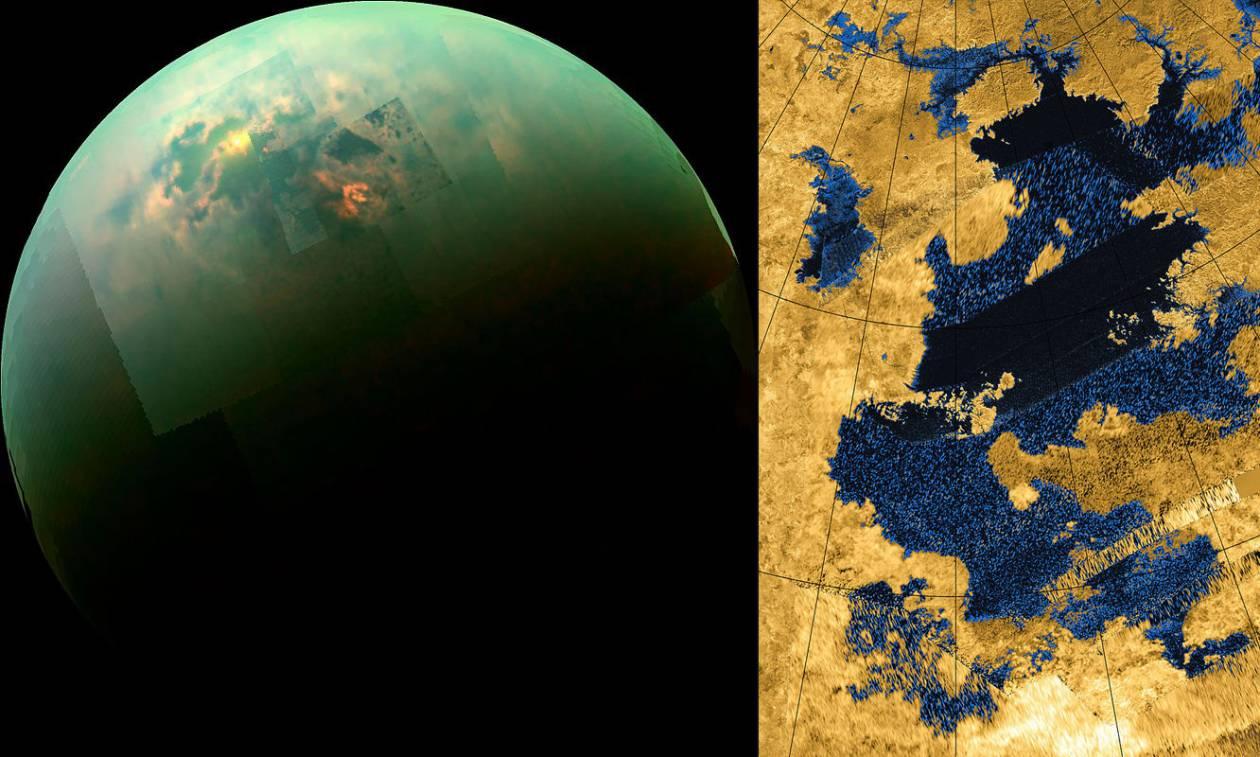 Αποκάλυψη NASA: Εντοπίστηκαν θάλασσες και λίμνες στον Τιτάνα (Pic)