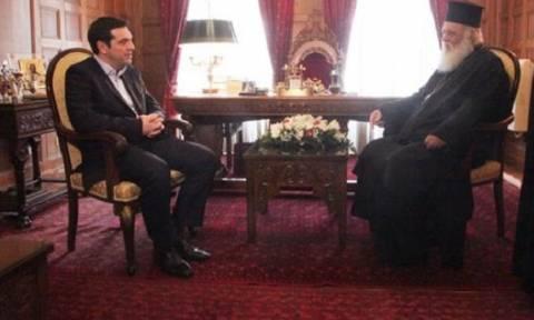 Алексис Ципрас и архиепископ Греции Иероним обсудили проблемы, связанные с названием Скопье