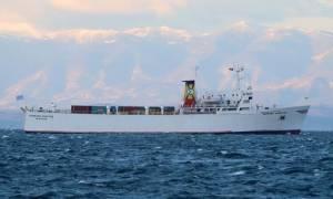 Θεσσαλονίκη: «Έδεσε» το πλοίο που μετέφερε τους 140 τόνους εκρηκτικών του ''Andromeda''