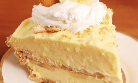 Λαχταριστό cheesecake μπανάνας χωρίς ψήσιμο, θα γλείφετε τα δάχτυλά σας