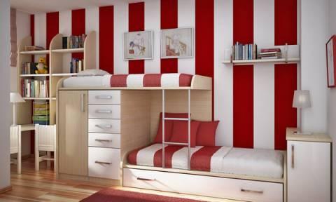 Παιδικό δωμάτιο: 35 ιδέες για να το βάψετε ή να το διακοσμήσετε με ρίγες