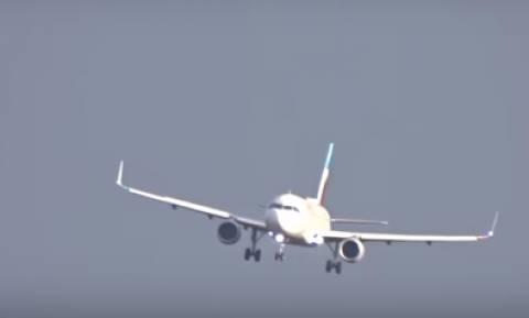 Βίντεο που κόβει την ανάσα: Προσγειώσεις τρόμου στο Ντίσελντορφ λόγω «Φρειδερίκης»