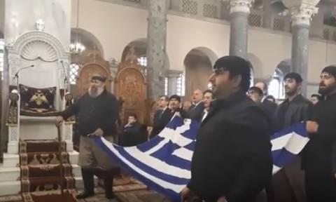 Συλλαλητήριο Θεσσαλονίκη – Ανατριχίλα: Έψαλαν τον Εθνικό Ύμνο μέσα σε εκκλησία
