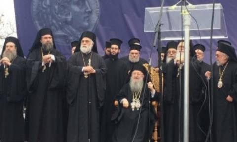 Συλλαλητήριο Θεσσαλονίκη: Το «παρών» έδωσε και ο Μητροπολίτης Άνθιμος (vid)