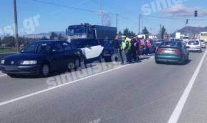 Αγρίνιο: Καραμπόλα έξι αυτοκινήτων στην Εθνική Οδό – Δείτε τις πρώτες εικόνες