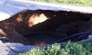 «Άνοιξε» η γη στην Κέρκυρα – Κινδύνευσαν κάτοικοι του νησιού (pics)