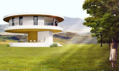 Εντυπωσιακό: Αν νομίζατε ότι αυτό είναι ένα κανονικό σπίτι δείτε τι συμβαίνει όταν βγαίνει ο ήλιος