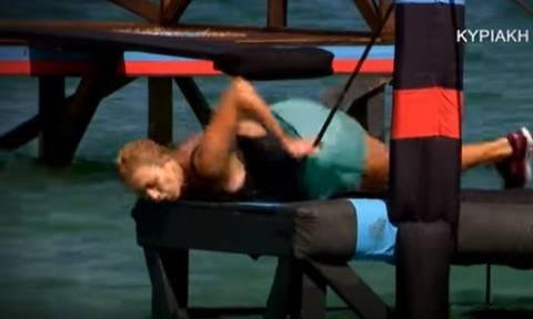Survivor 2: Τραυματίζεται σοβαρά η Κωνσταντίνα Σπυροπούλου; - Δείτε το βίντεο