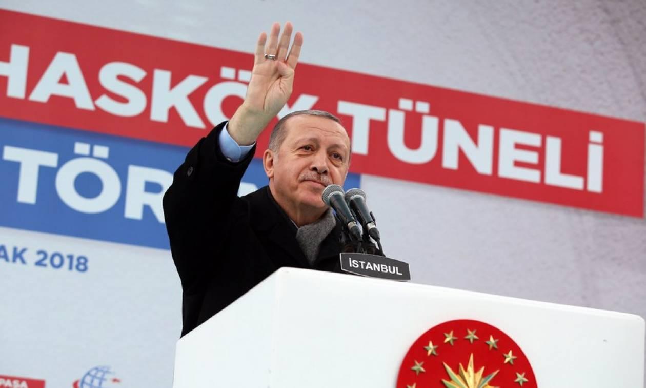 Ερντογάν: Θα καθαρίσουμε τη μεθόριο με τη Συρία από τους τρομοκράτες
