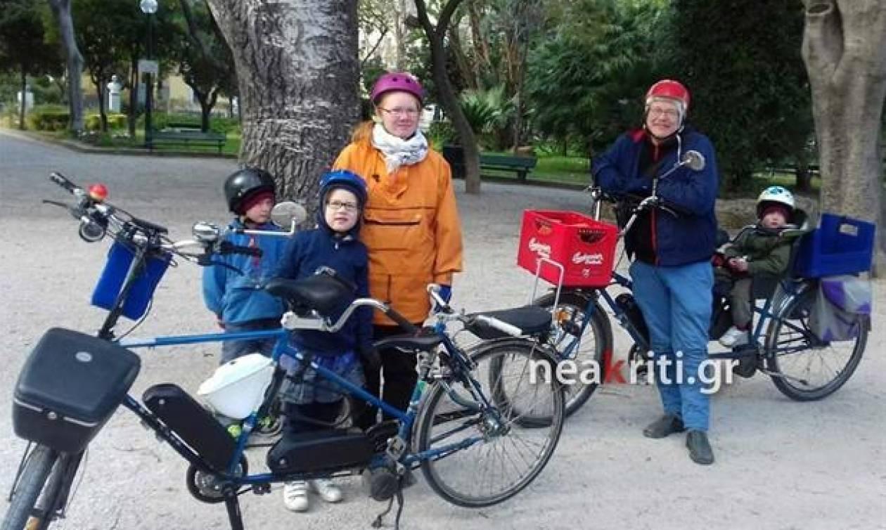 Οικογένεια με τρία παιδιά ταξίδεψε με ποδήλατο από τη Φινλανδία στην Κρήτη!