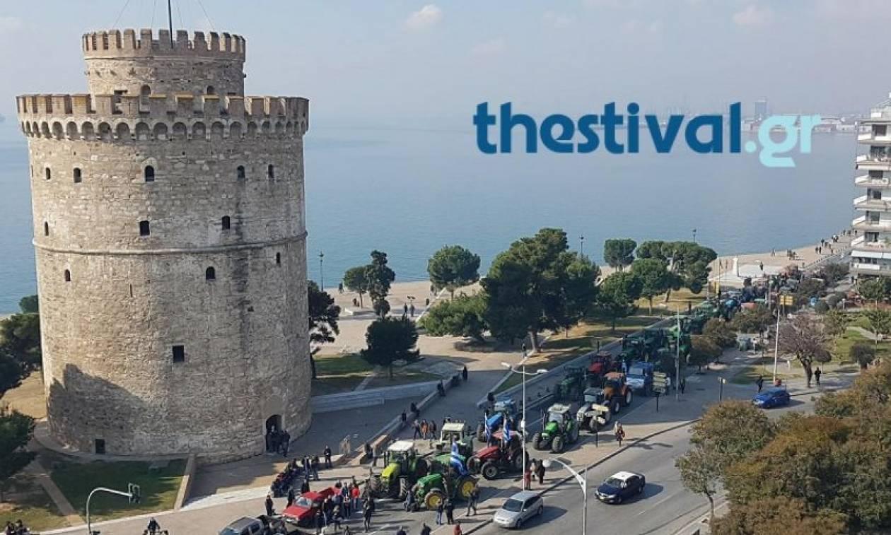 Τα τρακτέρ μπήκαν στη Θεσσαλονίκη - Συλλαλητήριο αγροτών στο κέντρο (vid)