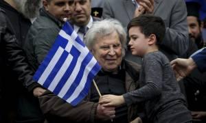 Συλλαλητήριο Αθήνα - Η Ελλάδα του Μίκη έστειλε μήνυμα: Η Μακεδονία είναι μία και είναι ελληνική