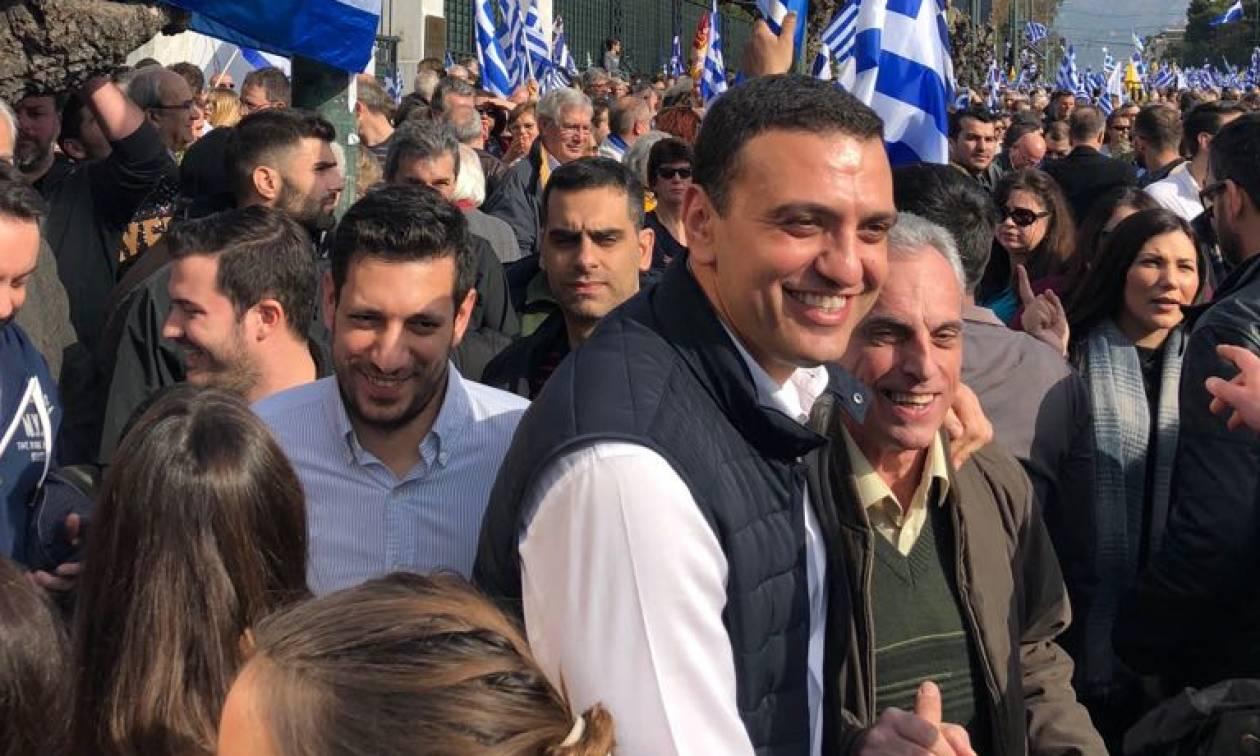Συλλαλητήριο Αθήνα: Στο Σύνταγμα ο Βασίλης Κικίλιας (pics)