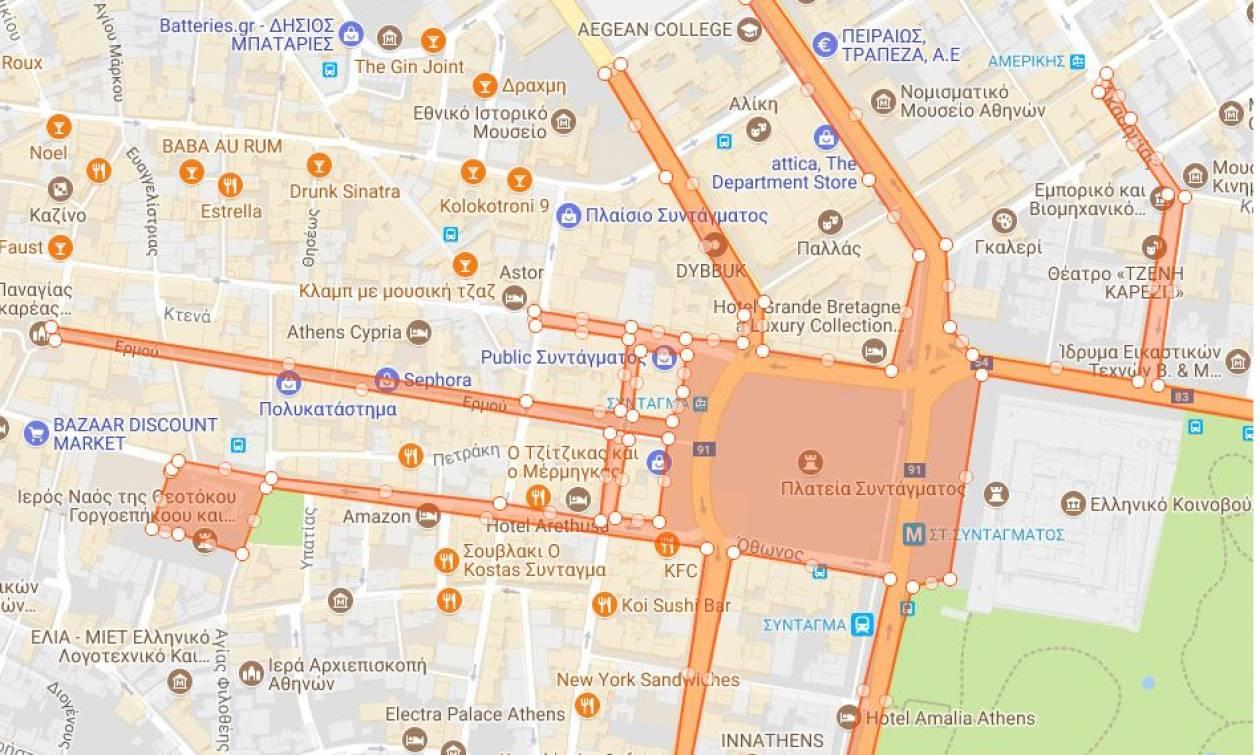 Συλλαλητήριο Αθήνα: Όλη η αλήθεια για τον κόσμο που πήγε στο συλλαλητήριο - Δείτε το χάρτη