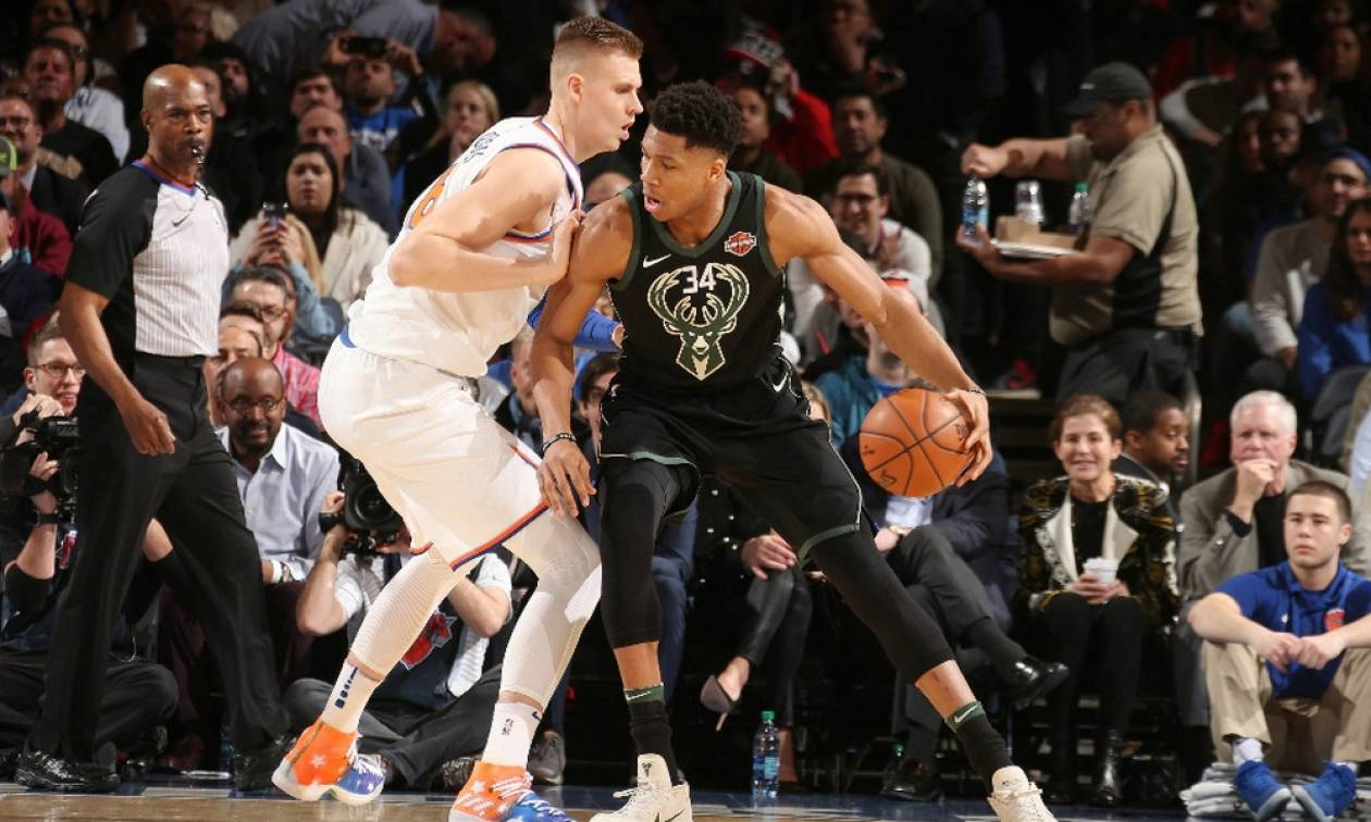 NBA: «Διπλό» στη Νέα Υόρκη με Αντετοκούνμπο οι Μπακς (pics+vid)