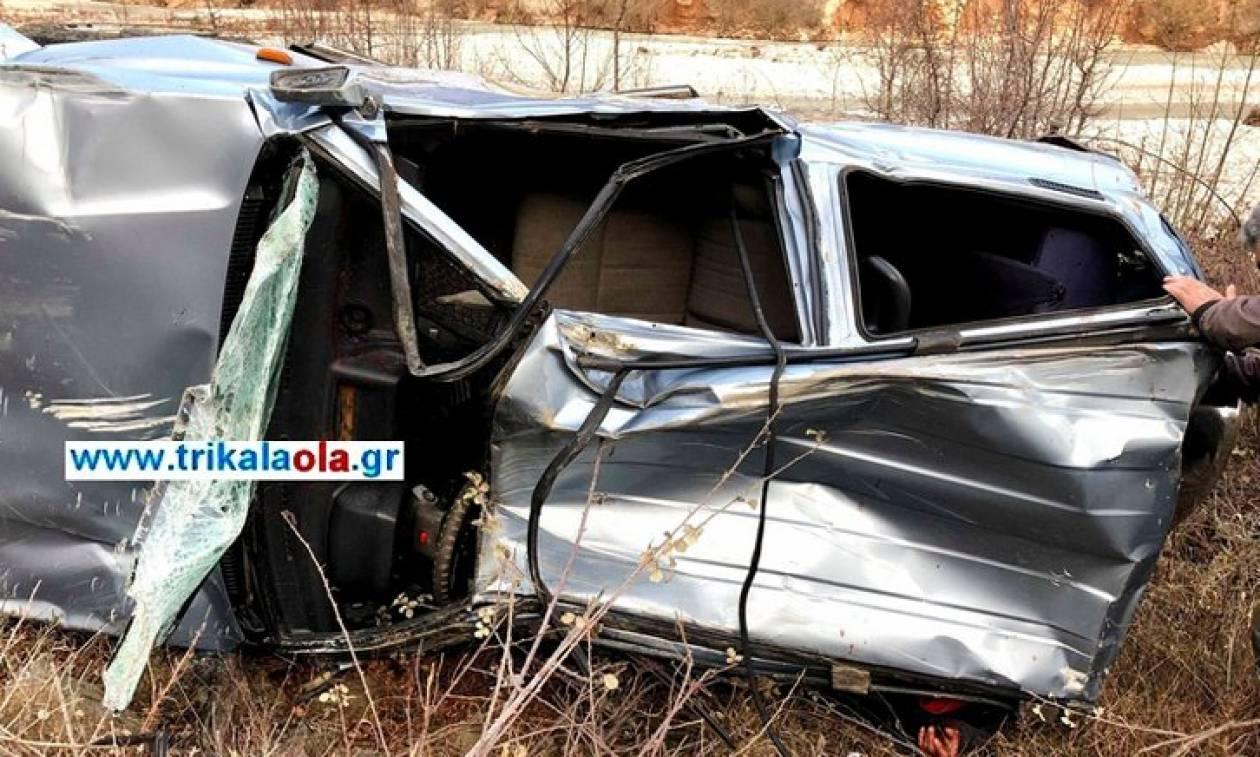 Τρίκαλα: 45χρονος έπεσε σε χαράδρα 120 μέτρων με το αυτοκίνητό του (pics)