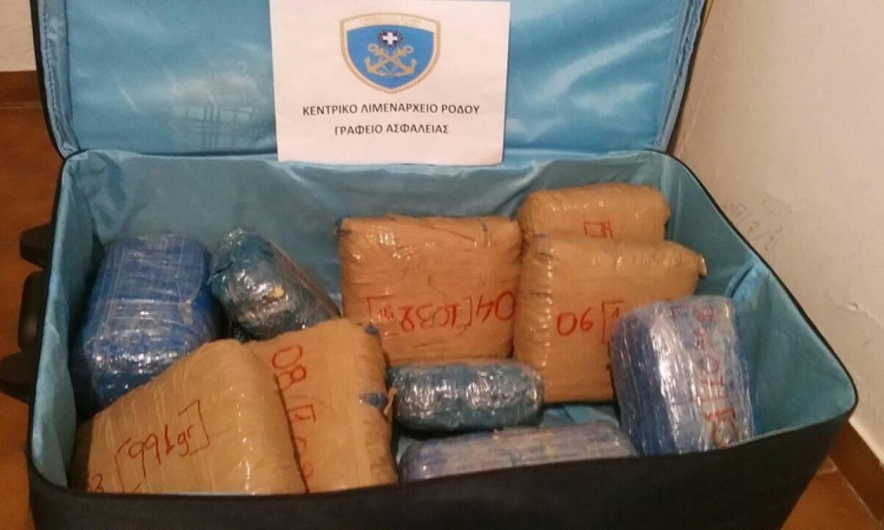 Ρόδος: Δύο συλλήψεις για κατοχή και διακίνηση ακατέργαστης κάνναβης (pics)