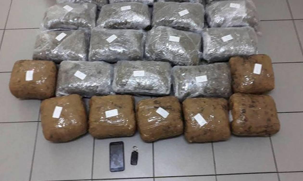 Φλώρινα: Αλβανός συνελήφθη με 23 κιλά κάνναβης