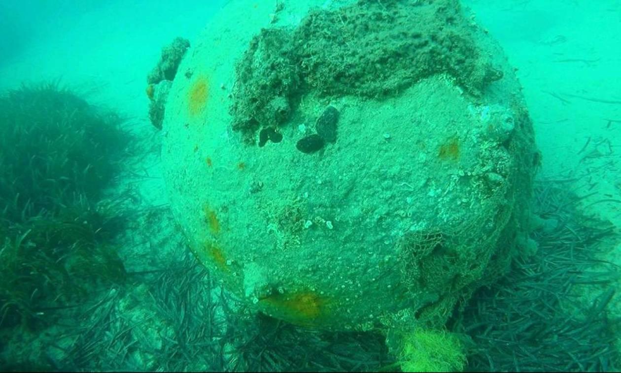 Χαλκιδική: Εξουδετέρωση υποβρύχιας νάρκης στα Νέα Μουδανιά (vids)