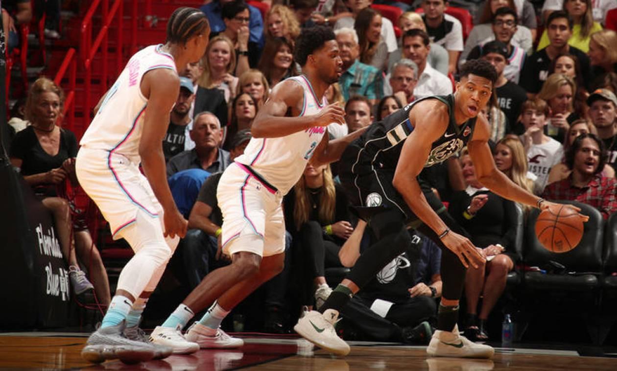 NBA: «Διπλός» Αντετοκούνμπο, ήττα για Μπακς (pics+vid)