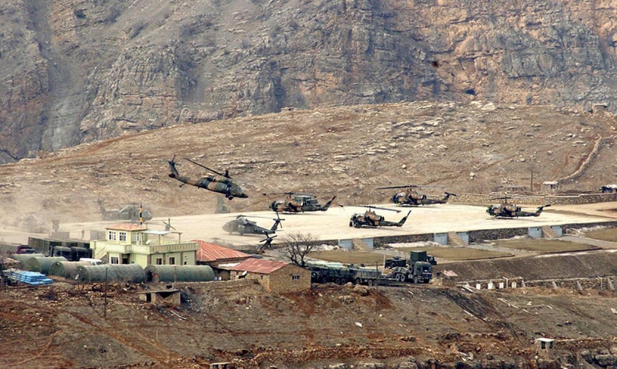 Δείτε το βίντεο της κατάρριψης του τουρκικού στρατιωτικού ελικοπτέρου από Κούρδους μαχητές