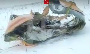 Αεροπορική τραγωδία στη Μόσχα: Βίντεο - σοκ από το σημείο της συντριβής