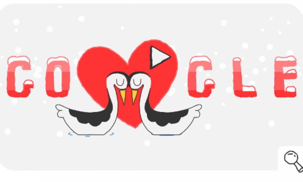 Χειμερινοί Ολυμπιακοί Αγώνες 2018: To doodle της Google για την ημέρα του Αγίου Βαλεντίνου