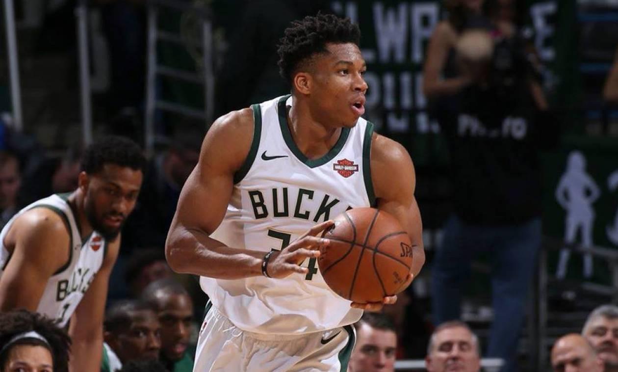 NBA: «Διπλός» Αντετοκούνμπο, νίκη οι Μπακς (pics+vid)