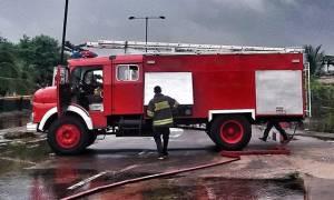 Κρήτη: Φωτιά σε καφενείο - Έκρηξη έπειτα απο διαρροή φιάλης υγραερίου