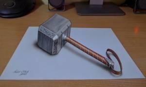 Δείτε τον απίθανο καλλιτέχνη που οι ζωγραφιές του είναι σαν να… βγαίνουν από το χαρτί! (pic)
