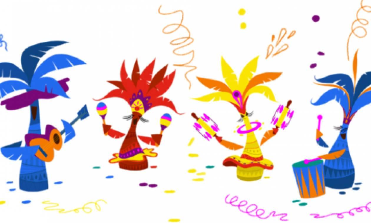 H Google γιορτάζει με doodle τις Απόκριες