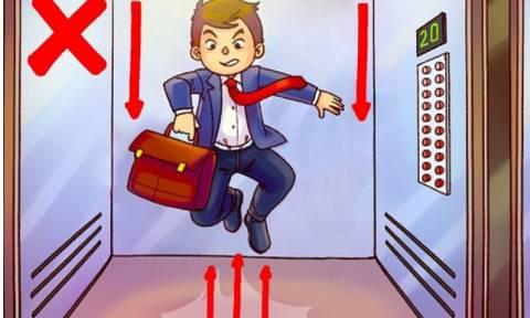 Τι πρέπει να κάνεις εάν σπάσει το συρματόσχοινο του ασανσέρ; (video)