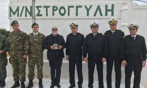 Shipping minister visits the Aegean islands of Symi and Stroggyli