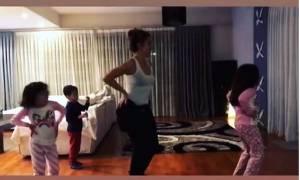 Η σύντροφος και οι κόρες γνωστού Έλληνα τραγουδιστή τρέλαναν το Instagram με το χορό τους (vid)