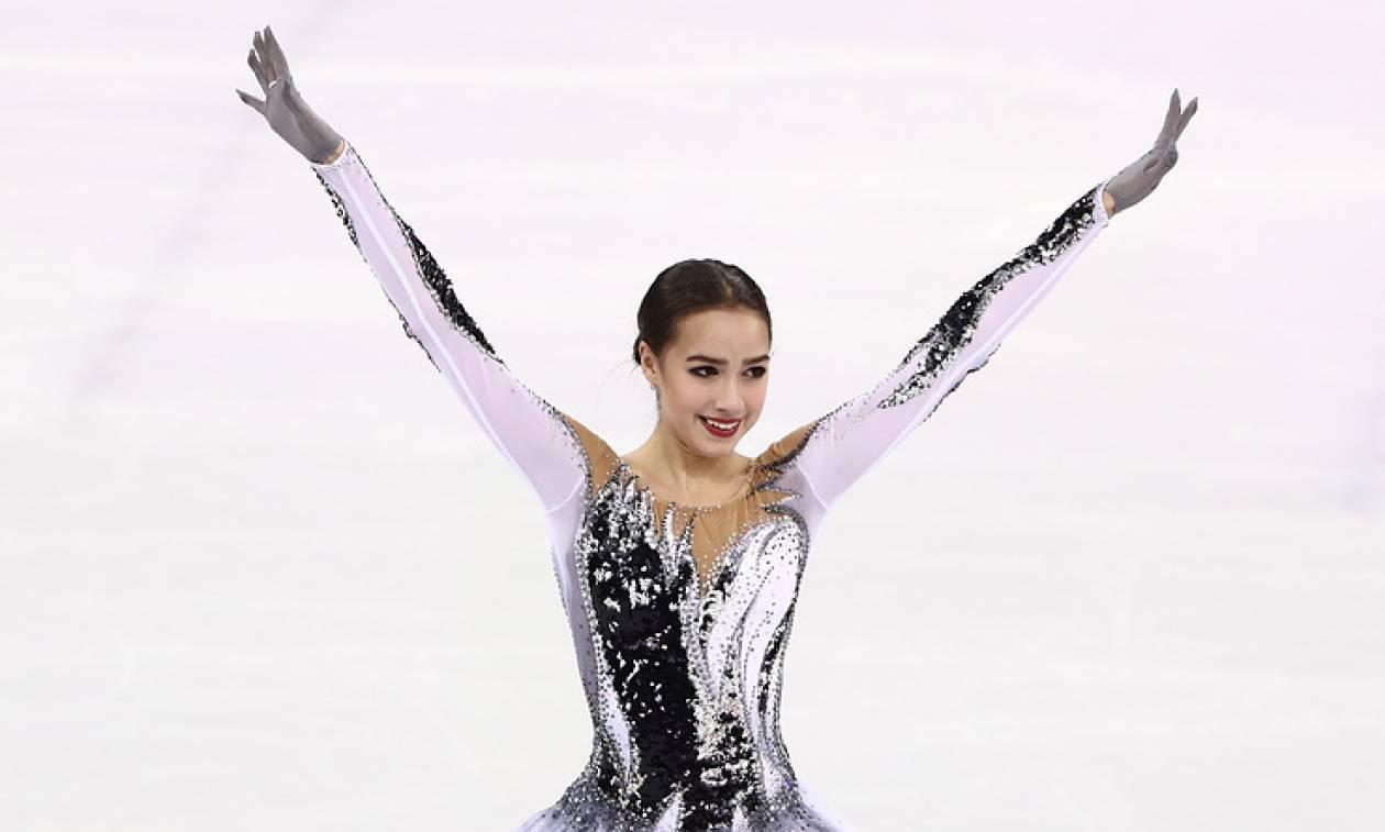 алина загитова короткая программа олимпиада