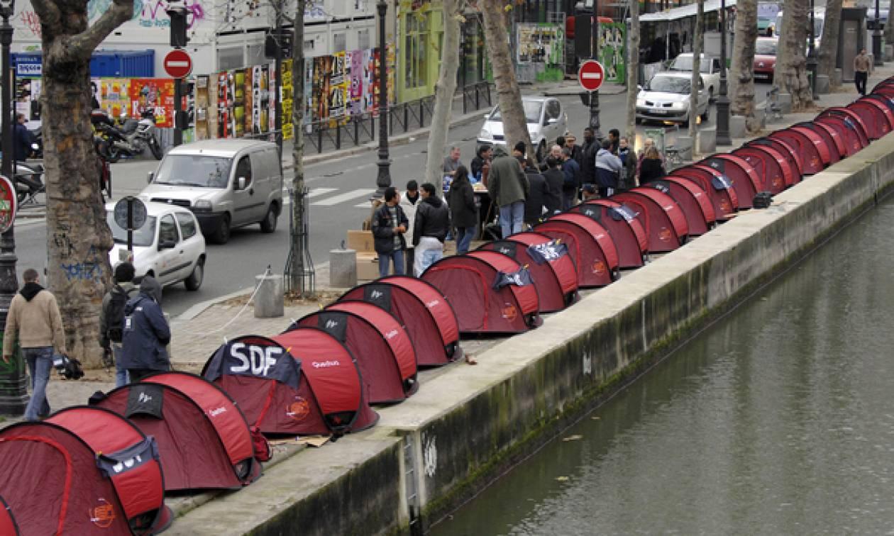 Πάνω από 3.000 άστεγοι στους δρόμους του Παρισιού!