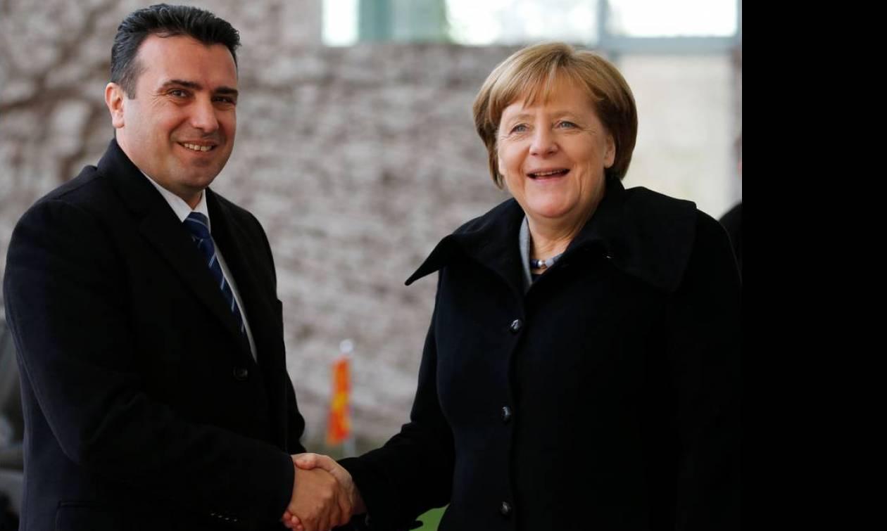Η «φίλη» μας η Μέρκελ καλωσόρισε τον «Μακεδόνα» πρωθυπουργό