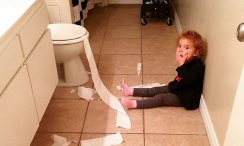 Εικόνες από το χάος που προκαλούν τα παιδιά στο σπίτι και τρελαίνουν τους γονείς