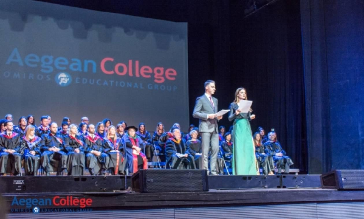 Λαμπρή τελετή αποφοίτησης από το Aegean College