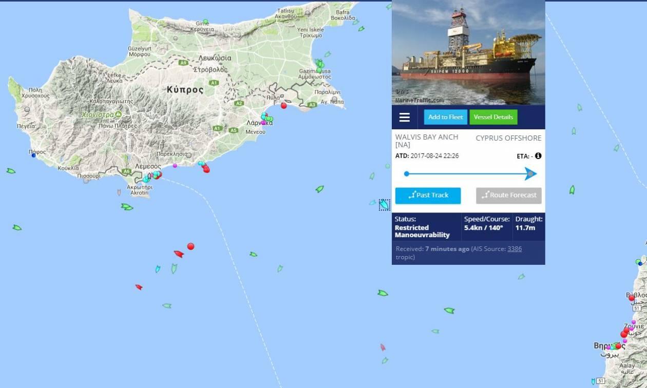 Πόλεμος νεύρων στην Κύπρο: Οι Τούρκοι απειλούν να βυθίσουν το γεωτρύπανο SAIPEM 12000