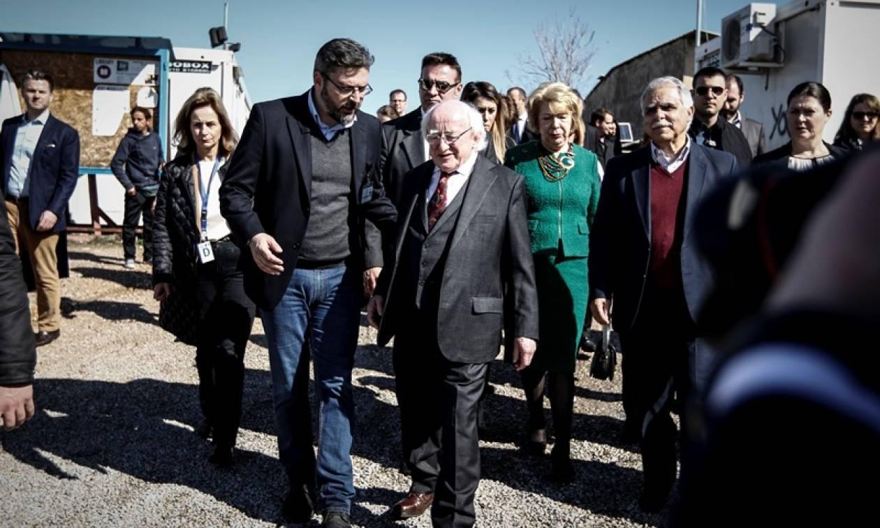 Ιρλανδός πρόεδρος για προσφυγικό: Παράδειγμα για την υπόλοιπη Ευρώπη οι Έλληνες (pics)
